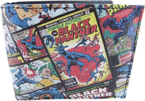 Black Panther Angled Comic Collage Bi-Fold Wallet