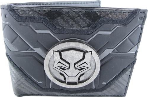 Black Panther Metal Badge Logo Bi-Fold Wallet
