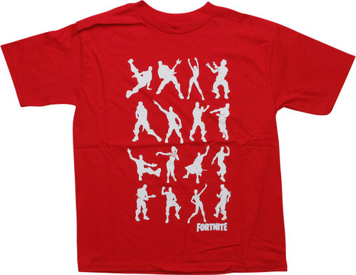 Fortnite Dance Dance Solid Red Youth T-Shirt