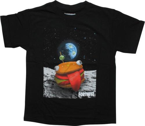 Fortnite Durr Burger Skin Black Youth T-Shirt