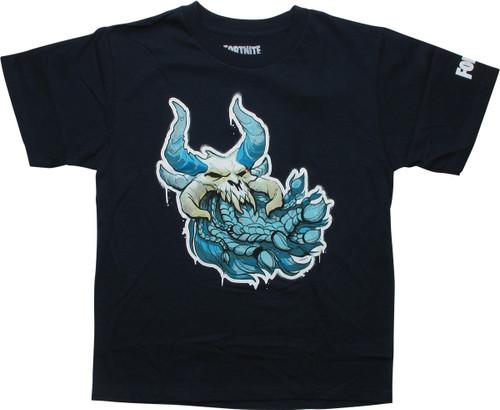 Fortnite Ragnarok Skull Navy Blue Youth T-Shirt