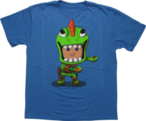 Fortnite Flossing Rex Heathered Blue Youth T-Shirt