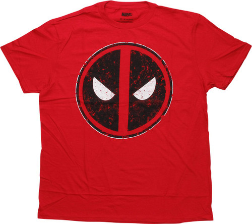 Deadpool Distressed Logo Red T-Shirt