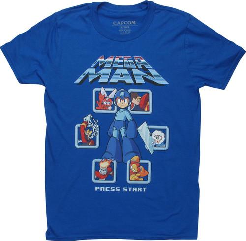 Mega Man Boss Select T-Shirt
