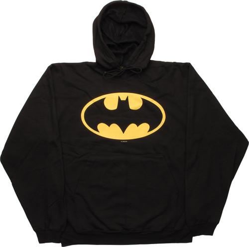 Batman Yellow Logo Pullover Hoodie