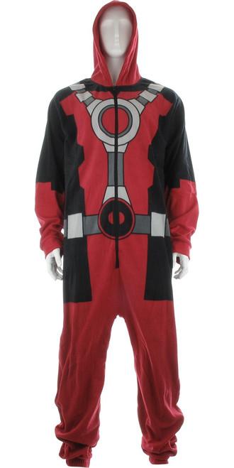 Deadpool Costume Hooded Union Suit