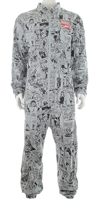 Marvel Vintage Comic Strip Collage Union Suit