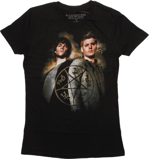 Supernatural Dean Sam Devils Trap Juniors T-Shirt