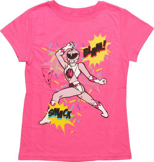 Power Rangers Sound Effects Girls Juvenile T-Shirt