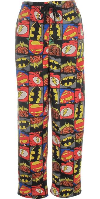 Justice League Logo Squares Pajama Pants