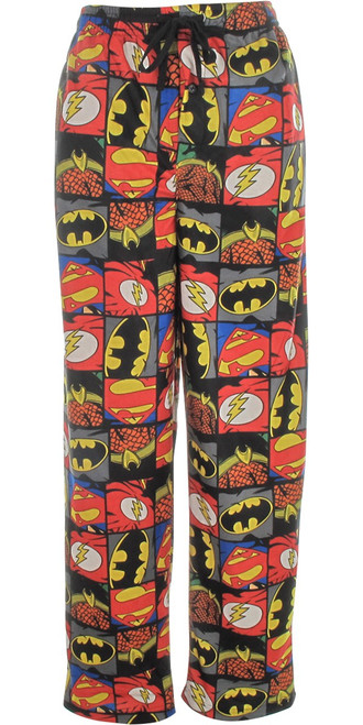Justice League Logo Squares Pajama Pants