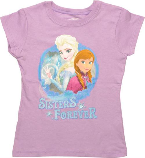 Frozen Sisters Forever Girls Juvenile T-Shirt