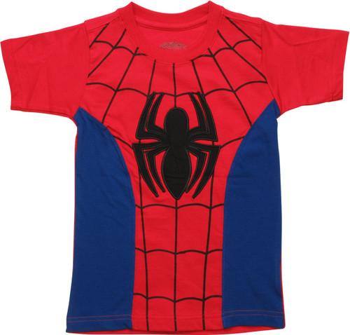 Spiderman Patch Logo Costume Juvenile T-Shirt
