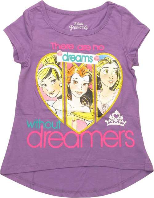 Disney Princess Dreams Hi Lo Girls Toddler T-Shirt