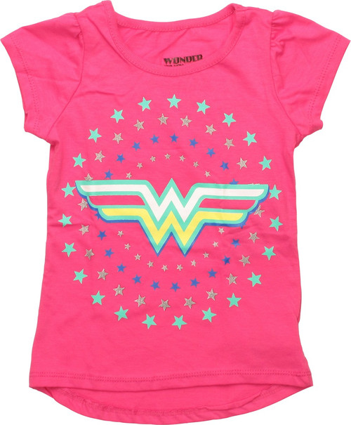 Wonder Woman Stars Girls Toddler T-Shirt