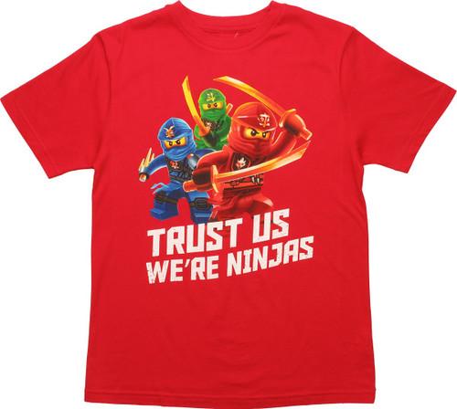 Lego Ninjago Trust Us Ninjas Youth T-Shirt