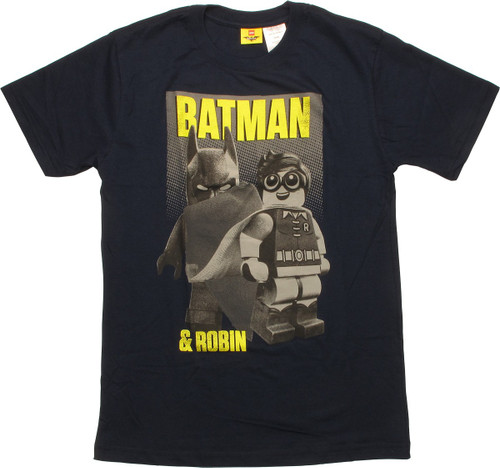 Batman Lego Robin Grayscale Youth T-Shirt