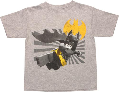 Batman Lego Jump Kick Juvenile T-Shirt