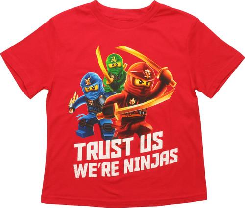Lego Ninjago Trust Us Ninjas Juvenile T-Shirt