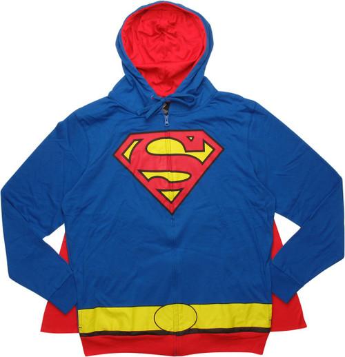 Superman Costume Caped Hoodie