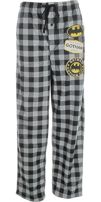 Batman Patch Plaid Pajama Pants