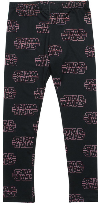 Star Wars Pink Logo Juvenile Leggings