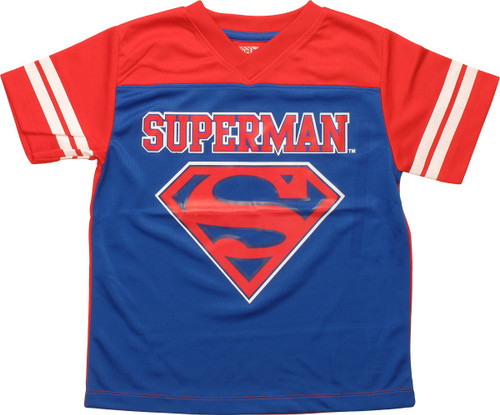 Superman Logo Football Juvenile Jersey