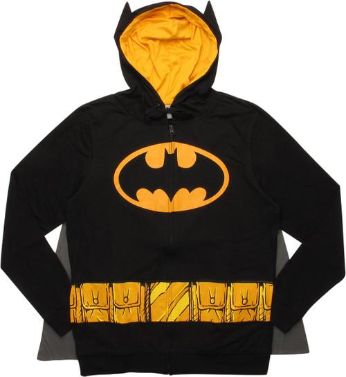 Batman Costume Caped Hoodie