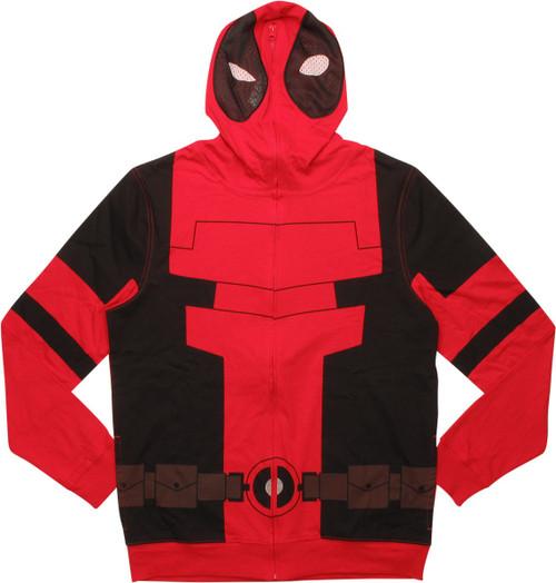 Deadpool Suit Masked Hoodie