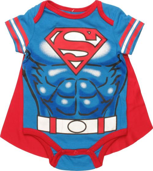 Superman Caped Costume Snap Suit