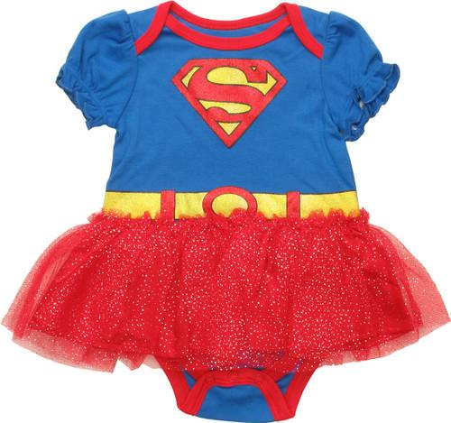 Supergirl Glitter Tutu Snap Suit
