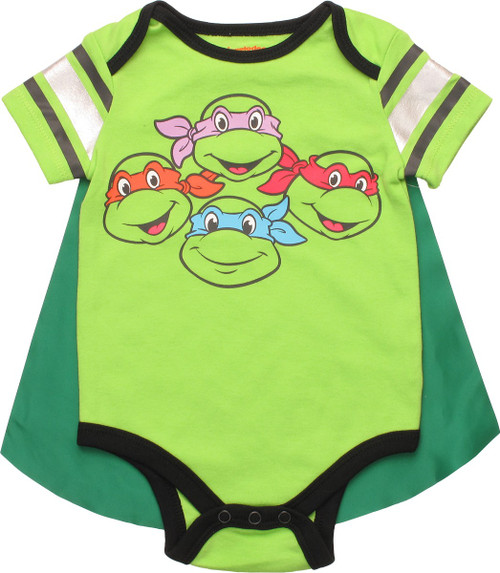 Ninja Turtles Faces Caped Snap Suit