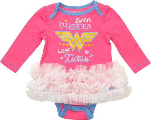Wonder Woman Tutu Long Sleeve Snap Suit