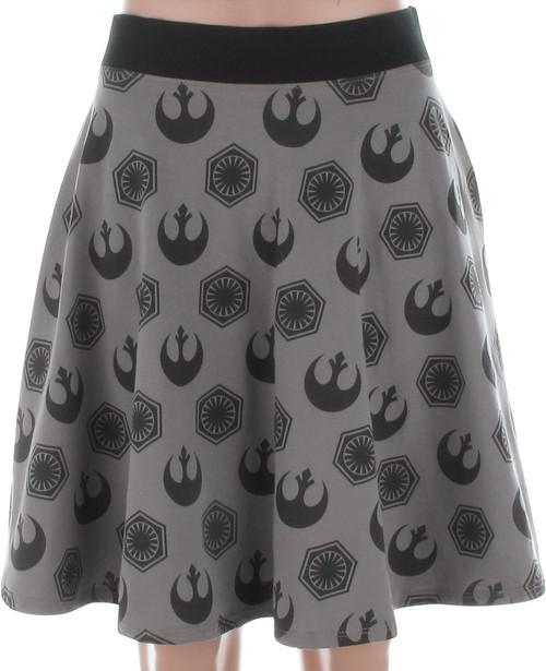 Star Wars Rebel and First Order Logos Skirt