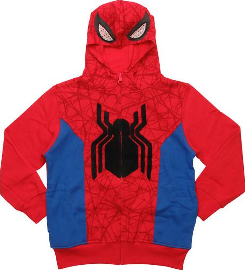 Spiderman Suit Masked Juvenile Hoodie
