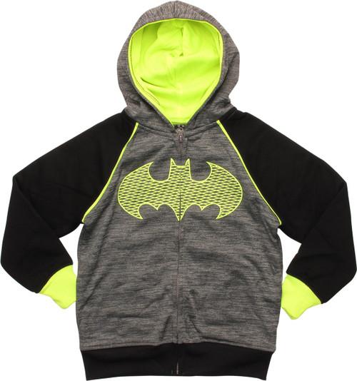 Batman Green Mesh Logo Juvenile Hoodie