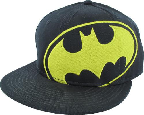 Batman Tilted Logo Flatbill Fitted Hat