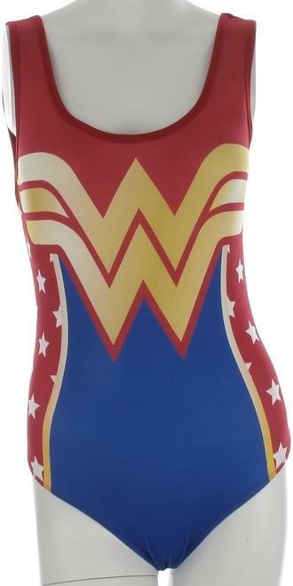 Wonder Woman Costume Tank Top Bodysuit