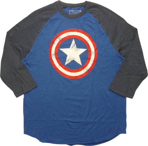 Captain America Vintage Shield Logo Raglan T-Shirt