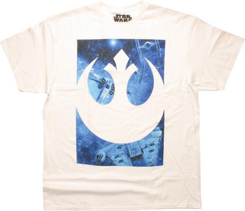 Star Wars Rebel Logo Ship Battle T-Shirt
