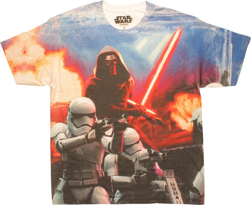 Star Wars Kylo Ren 1st Order Sublimated T-Shirt