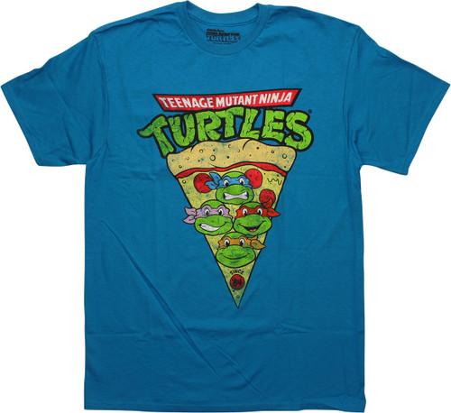 Ninja Turtles Hero Heads Pizza Slice T-Shirt