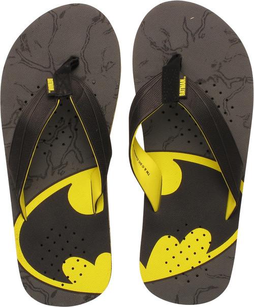 Batman Slanted Logo Gray Sandals