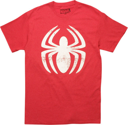 Amazing Spiderman Vintage White Logo T-Shirt
