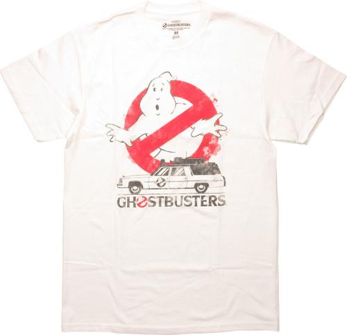 Ghostbusters Logo Ecto-1 Name T-Shirt