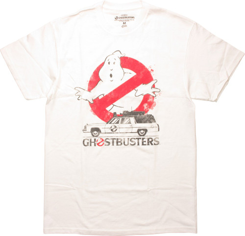 Ghostbusters Logo Ecto-1 Name T-Shirt