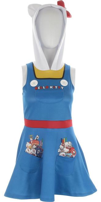 Hello Kitty Hooded A Line Tank Top Dress