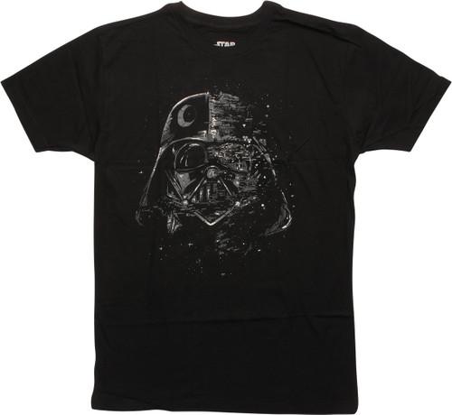 Star Wars Death Star Darth Vader Helmet T-Shirt