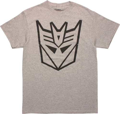 Transformers Decepticon HD Logo Gray T-Shirt