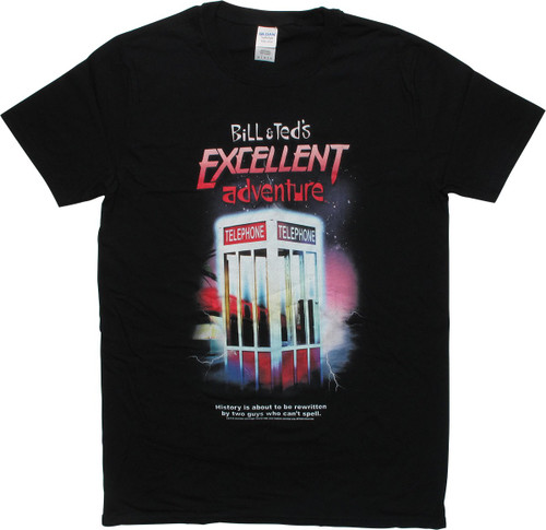 Bill and Ted Phone Booth History Rewritten T-Shirt
